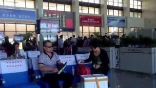 中国東北部の旅  2013 09  Part  13   哈大高速鉄道 鲅鱼圈站