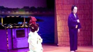 藤間流 藤間小紫鶴と林与一による滝川と小猿七之助を演じます。 fujima ...