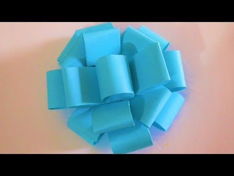 How To Make Easy Paper Bow | DIY Easy Paper Bow Gift Wrap | Paper Crafts | Nelufa Crafts |