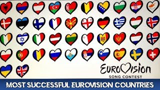 MOST SUCCESSFUL EUROVISION COUNTRIES (BASED ON MY TOPS TOP 3)