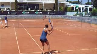 Madison Keys & Daria Kasatkina Practice | Rome 2018 | Court Level