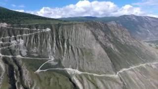 Горный Алтай. Перевал Кату-Ярык с DJI Phantom 4(Съемка велась 16 августа 2016 года в 10 часов утра по местному времени., 2016-08-27T05:02:42.000Z)