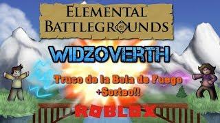 Fireball Trick in Roblox! + Sweepstakes!! - Elemental Battlegrounds