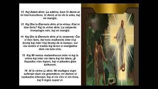Biblio/ Genezo 3/ Bible in Esperanto