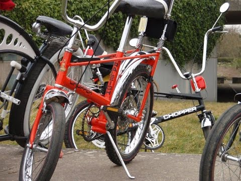 Raleigh Chopper Grifters Custom Bike Milton Keynes Ride 8th March 2015