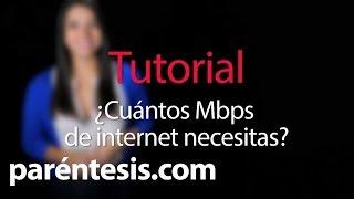 ¿Cuántos megas de Internet necesito? thumbnail
