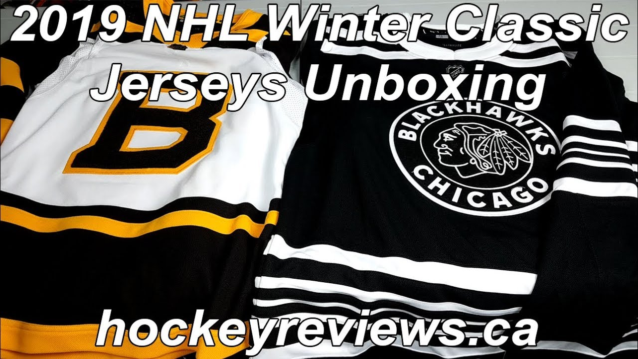 2019 NHL Winter Classic Boston Bruins   Chicago Blackhawks Adidas Authentic  Jersey Unboxing ca28da715