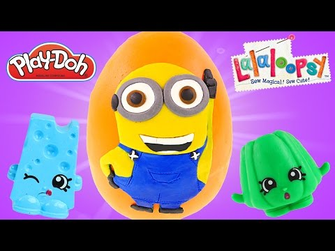 Giant Dave MINION Play Dough Surprise Egg Opening | Huge Surprise Toy Opening Episode on DCTC