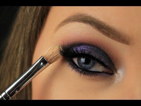 Beauty Hack! One Brush Smokey Eye For Beginners   Drugstore Makeup