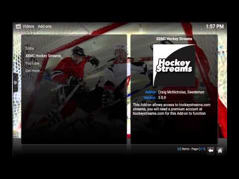 How To Install Hockeystreams In Kodi To Get High Defintion Live And On Demand Hockey
