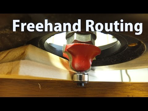 How to Use a Router Freehand – Beginners #11 – woodworkweb