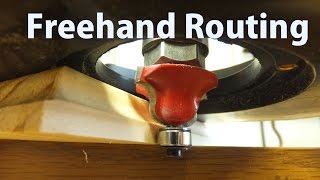 How to Use a Router Freehand - Beginners 11 - woodworkweb