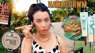 GET READY WITH ME IN HAWAII! Glowy Vacation Makeup