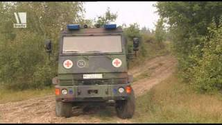 Der YAK - das hochmoderne und gepanzerte Fahrzeug der Sanitäter. Ab...