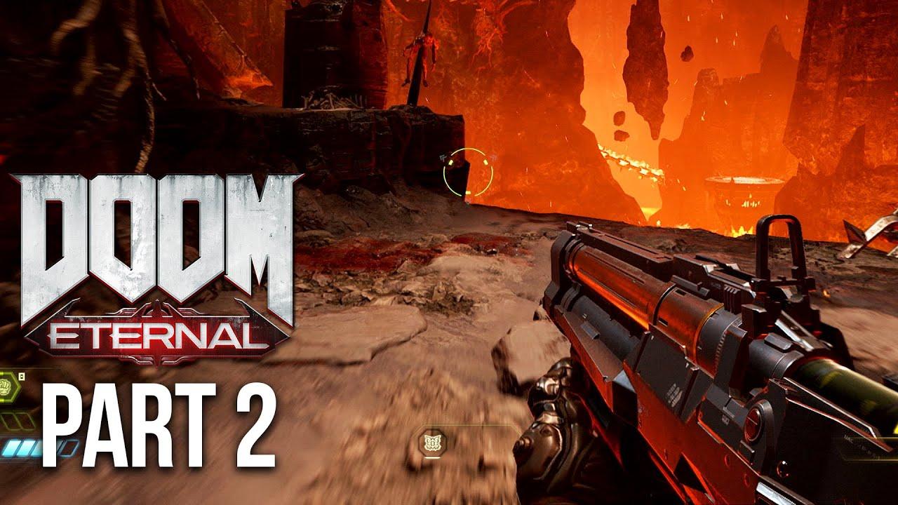 DOOM ETERNAL Gameplay soluce Part 2 - JEU PLUS EXCLUSIF + vidéo