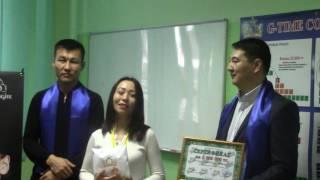 G-TIME CORPORATION 04.02.2017 г. Вручение 3 000 000 тенге партнеру из г. Аксу