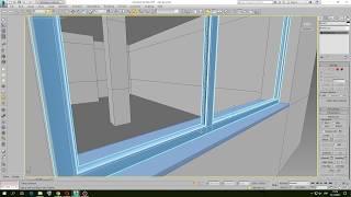 Mоделирование окна в 3d max bevel + extrude