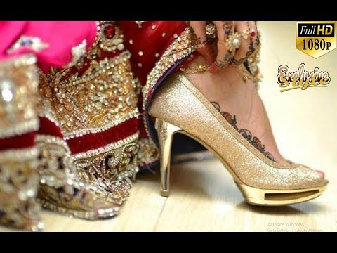 The Most Beautiful Eid and Bridal (Wedding) Footwears (Glamorous Shoes, Sandals, and Slippers)