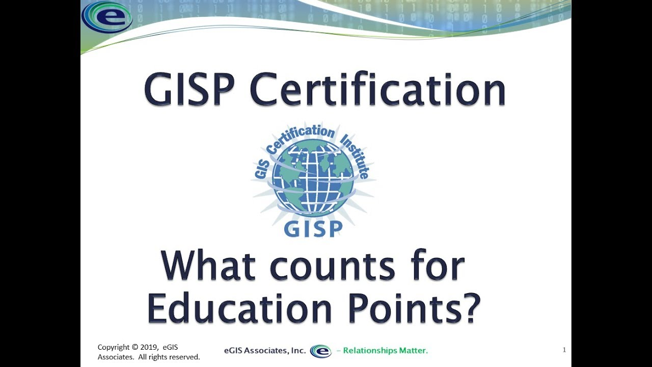 Gisp Certification Education Points What Counts And How To Calculate