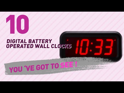 Digital Battery Operated Wall Clocks // New & Popular 2017