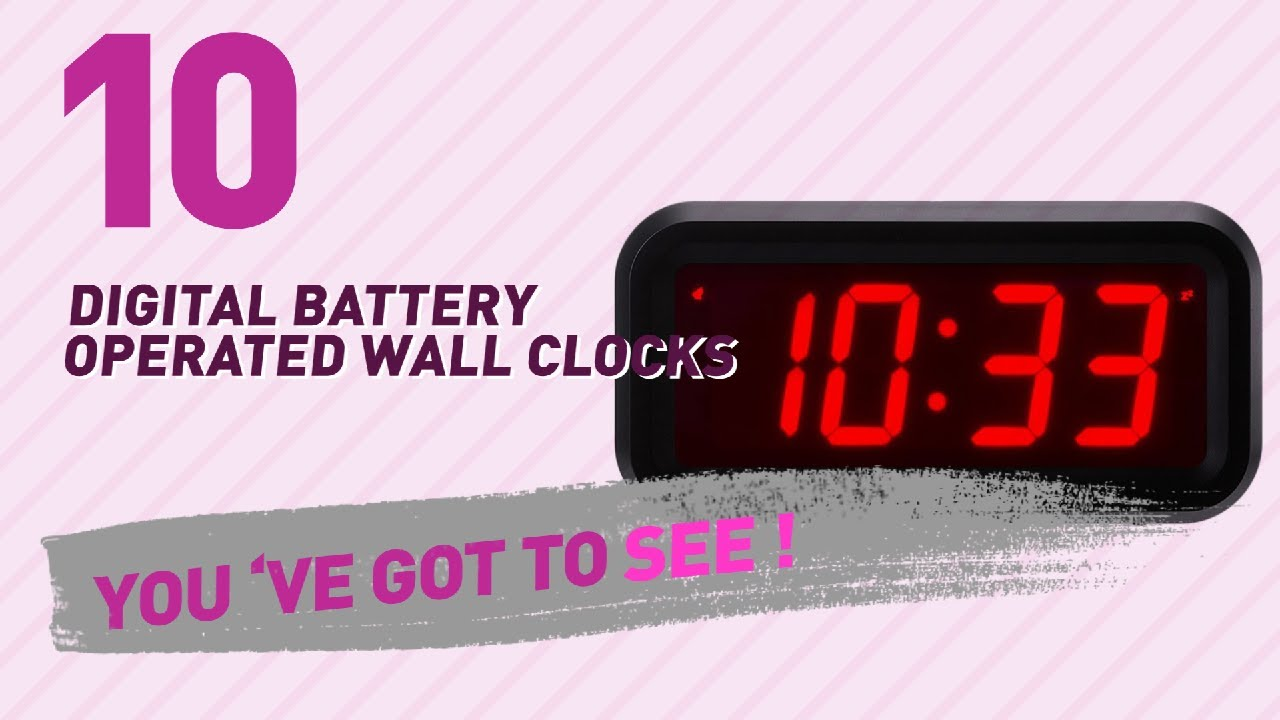 Battery Digital Digital Battery Operated Wall Clocks New Popular 2017