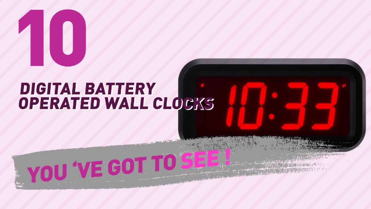 Digital battery operated wall clocks new popular 2017 youtube digital battery operated wall clocks new popular 2017 amipublicfo Gallery