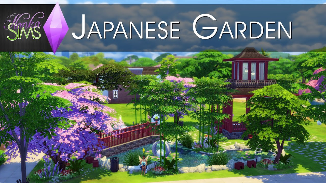 The Sims 4 Speed Build Japanese Garden YouTube