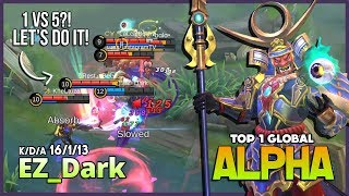 Brutal Damage with Unlimited Lifesteal Alpha by EZ_Dark Top 1 Global Alpha ~ Mobile Legends