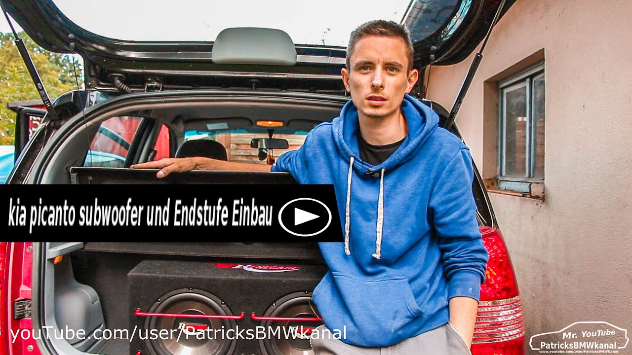 subwoofer und endstufe einbau kia picanto youtube. Black Bedroom Furniture Sets. Home Design Ideas