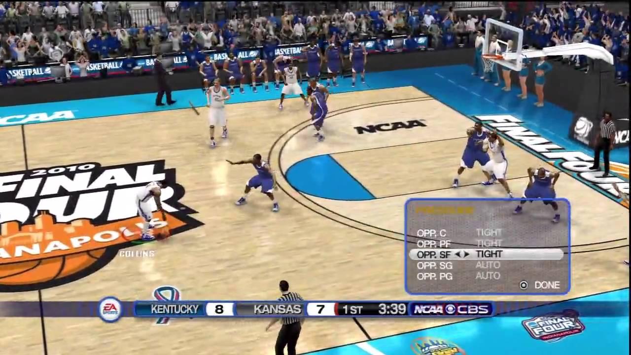 Ncaa Basketball 10 Ps3 Kansas Vs Kentucky Championship Pt 1 Youtube