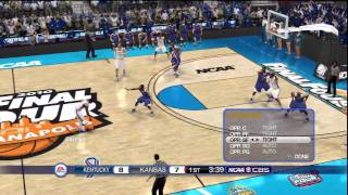 Http://www.thesportsgamer.comfirst half of an ncaa national championship matchup between the kansas jayhawks and kentucky wildcats on all-conference difficulty.