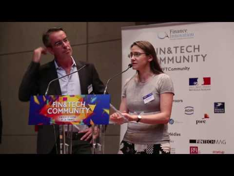 Stéphane Vallois et Ludivine Doladille - Remise du Label Finance Innovation 2017