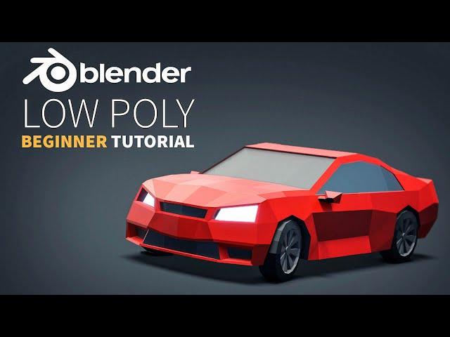 Low Poly Vehicles | Easy Beginner | Blender 2 8 Tutorial
