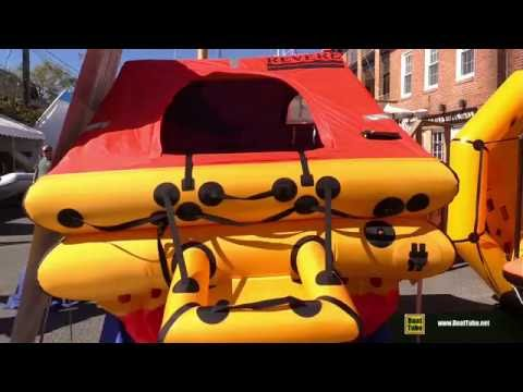 Revere Offshore Elite Inflatable Life Raft - Walkaround - 2015 Annapolis Sail Boat Show