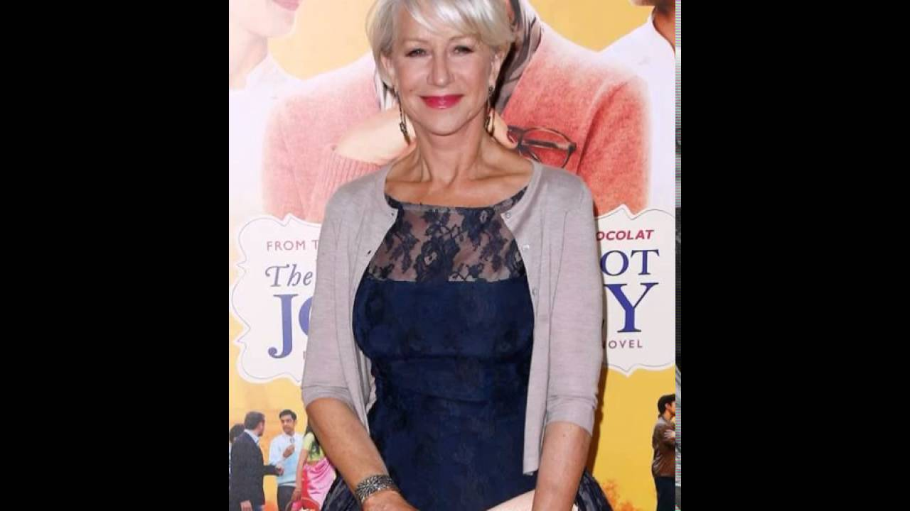 Helen Mirren Short Hairstyle For Women Over Style Youtube