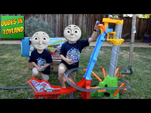 Download Youtube: Thomas and Friends Trackmaster Sky High Bridge Jump toy train videos for kids