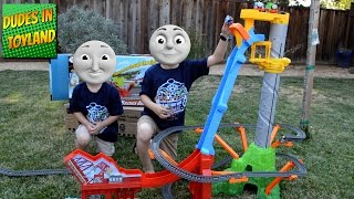 thomas and friends trackmaster sky high bridge jump toy train videos for kids
