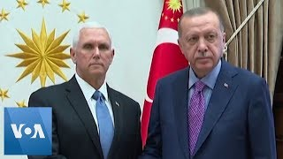 US VP Pence Meets Turkey's President Erdogan, Announces Cease-fire in Turkish Assault in Syria