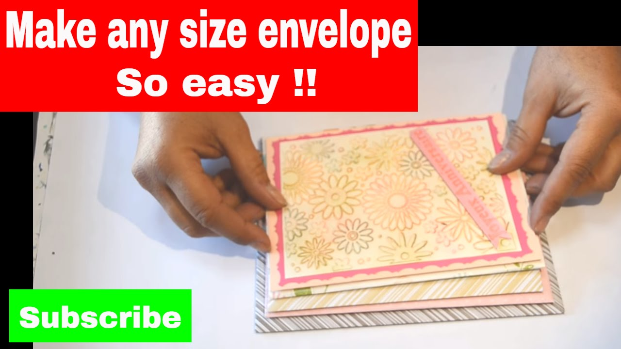The Best Way To Make Your Own Envelopes Any Size Without An Envelope Maker
