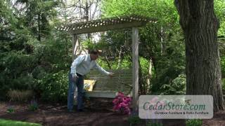 Red Cedar Marquis Arbor And Highback Porch Swing - Billy Mays Style