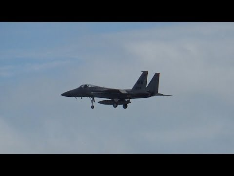 F-15s and F-16s Take Off and Land at Patrick Air Force Base