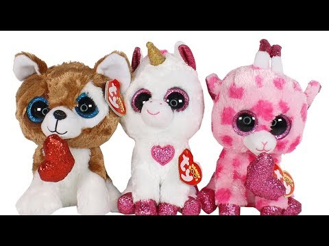 242c4f8efcd TY Beanie Boos Valentine s Day 2019 Haul Unboxing Toy Review TY Beanie Boo  Plush Valentine