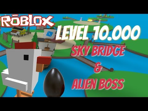 **Level 10.000** Grinding, SkyBridge & Alien Boss!! Egg Farm Simulator - Roblox
