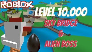 **Level 10.000** Grinding, SkyBridge & Alien Boss!! Egg Farm Simulator - Roblox