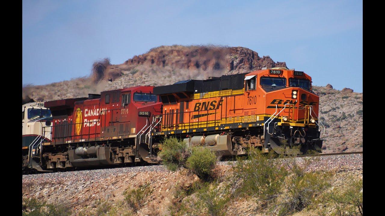 BNSF Freight Trains in Arizona