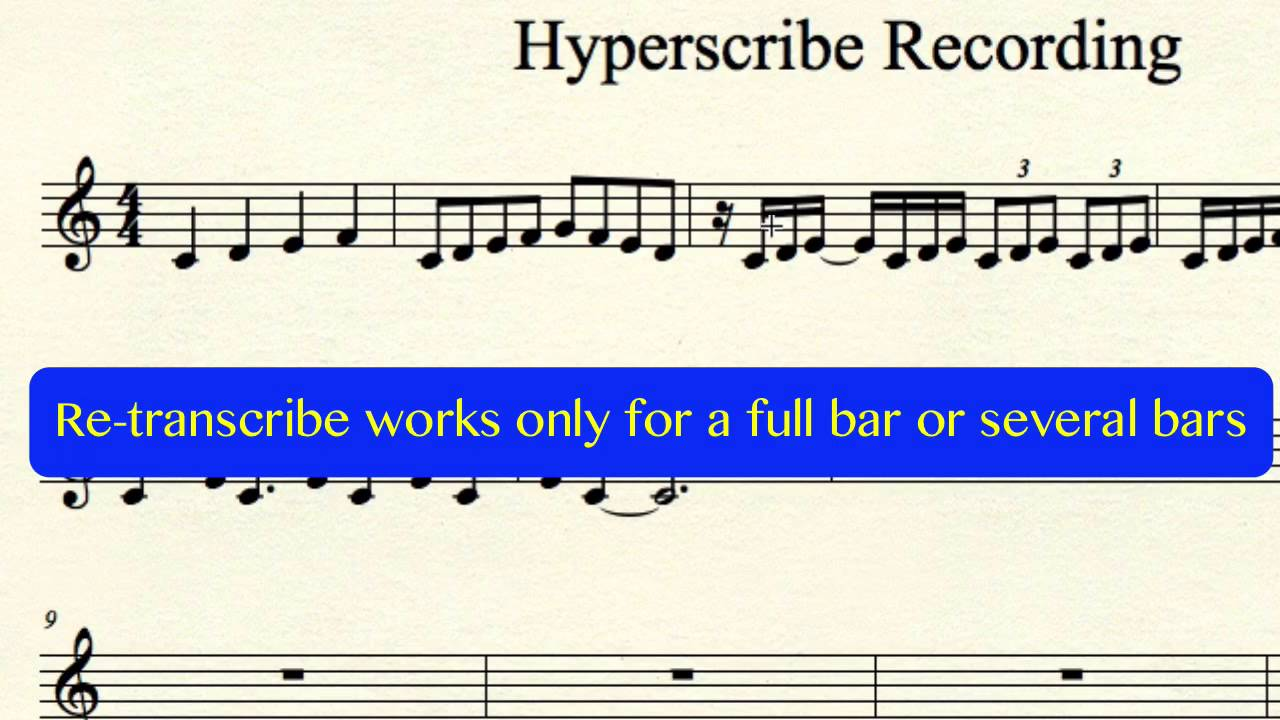 finale hyperscribe tool for real time recording youtube