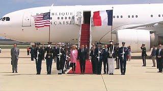 French President Emmanuel Macron kicks of U.S. state visit