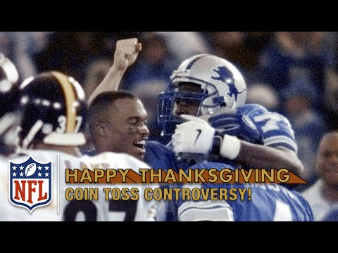 Phil Luckett Botches Jerome Bettis OT Coin Toss (1998) | NFL On Thanksgiving