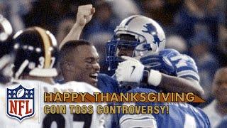 Phil Luckett Botches Jerome Bettis OT Coin Toss (1998) | NFL On Thanksgiving