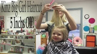 Repeat youtube video KINZ 4 YEAR OLD SHORT HAIRCUT! 5 INCH OFF!│1•15•15 DAILY VLOG
